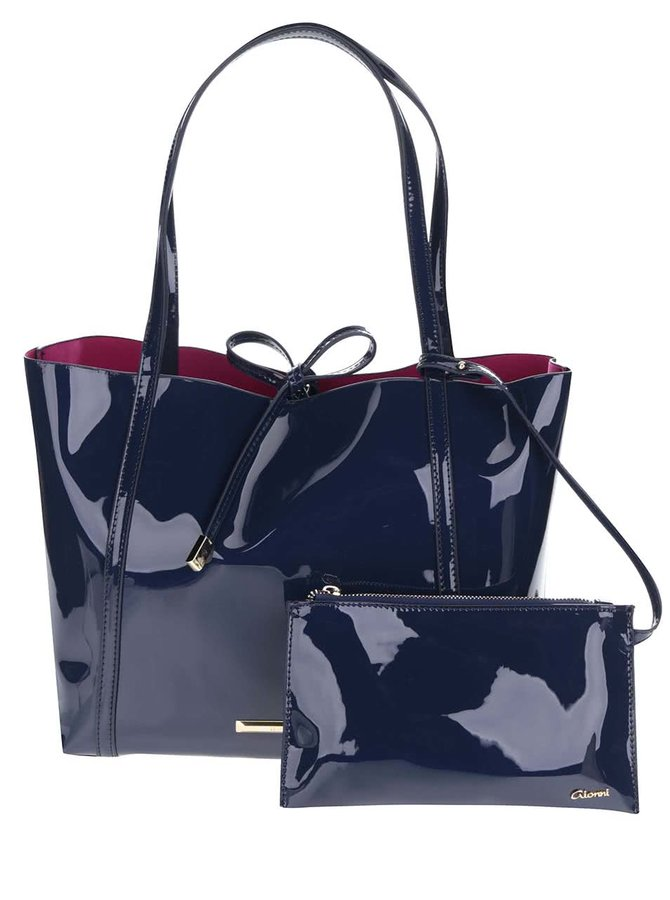 Modrý shopper s pouzdrem 2v1 Gionni Imaan