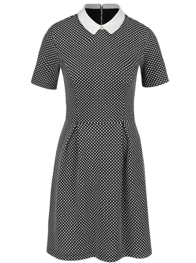 Krémovo-černé šaty s límečkem Dorothy Perkins