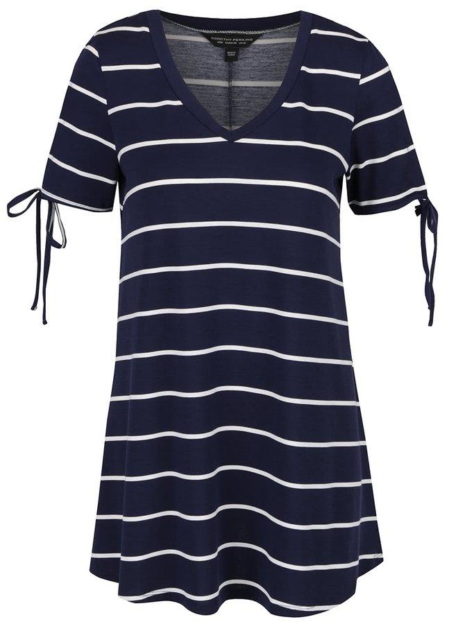 Tmavě modré dlouhé tričko Dorothy Perkins