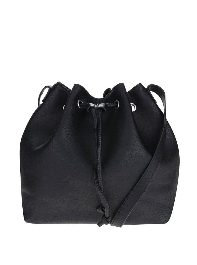 Geantă tip sac Pieces Malou neagră