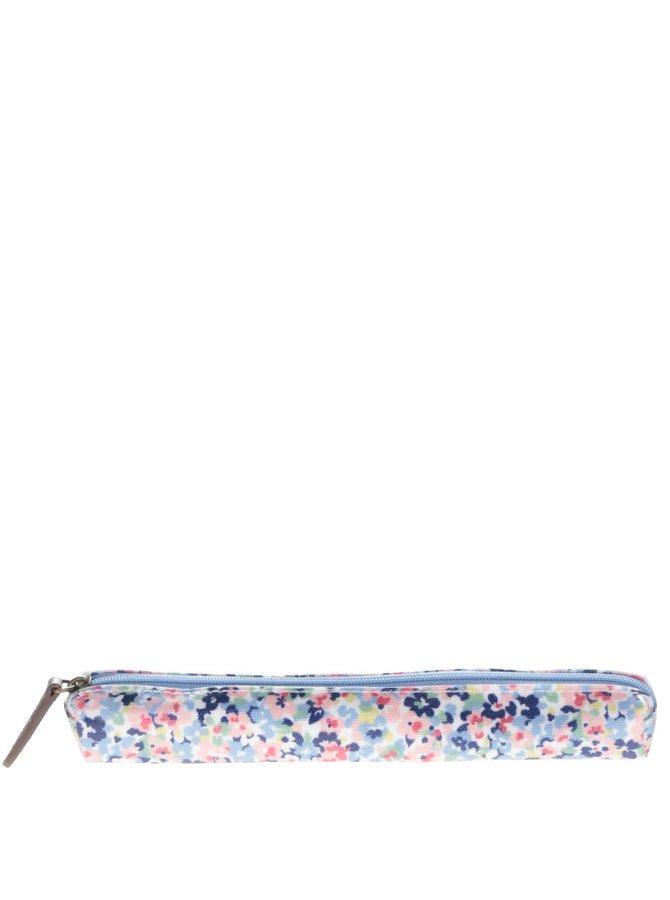 Penar albastru pentru creioane Cath Kidston din bumbac cu model floral