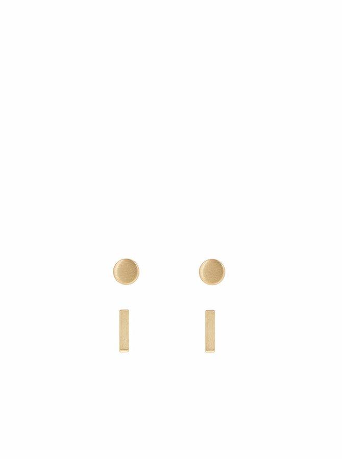 Sada dvou párů náušnic ve zlaté barvě Pieces Maddy