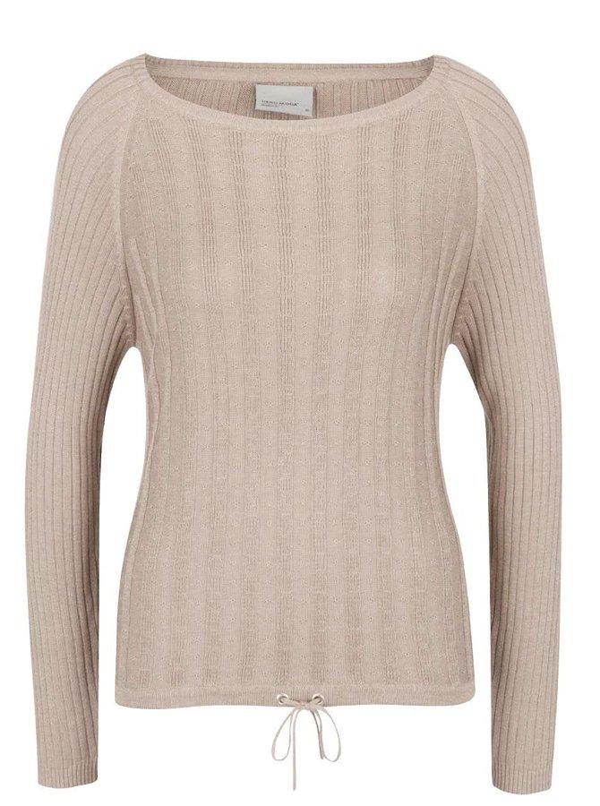 Béžový svetr s dlouhým rukávem VERO MODA Olga