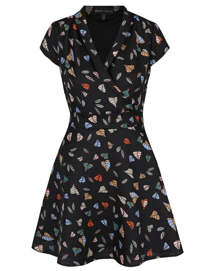 Černé šaty s páskem Mela London