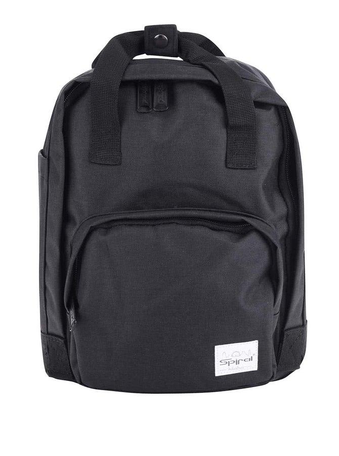 Černý malý unisex batoh Spiral Classic