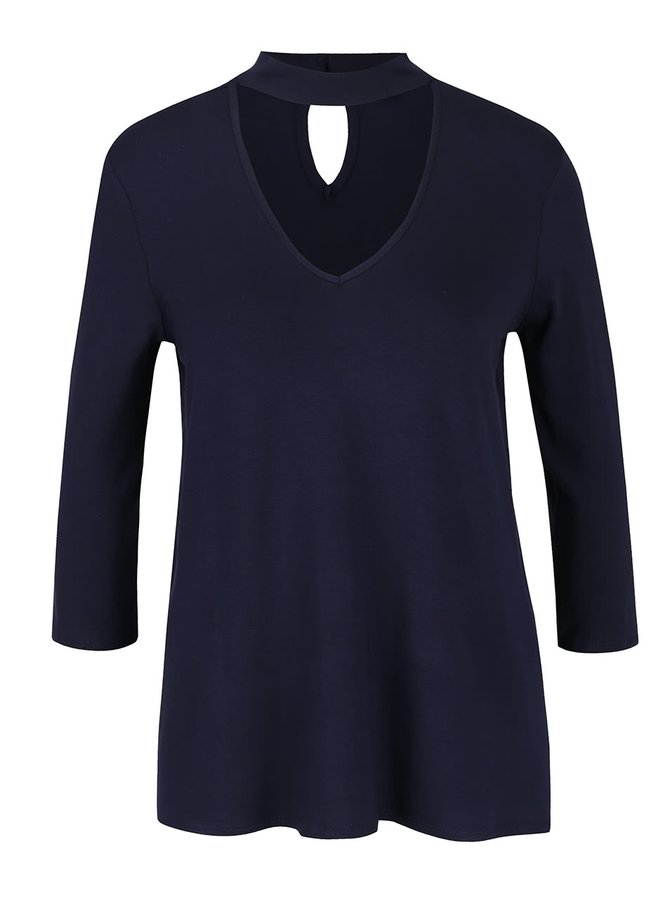 Bluză bleumarin Dorothy Perkins cu decupaj en coeur
