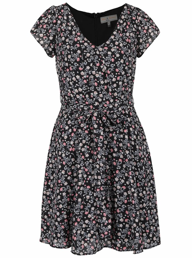 Černé květované šaty Billie & Blossom Petite
