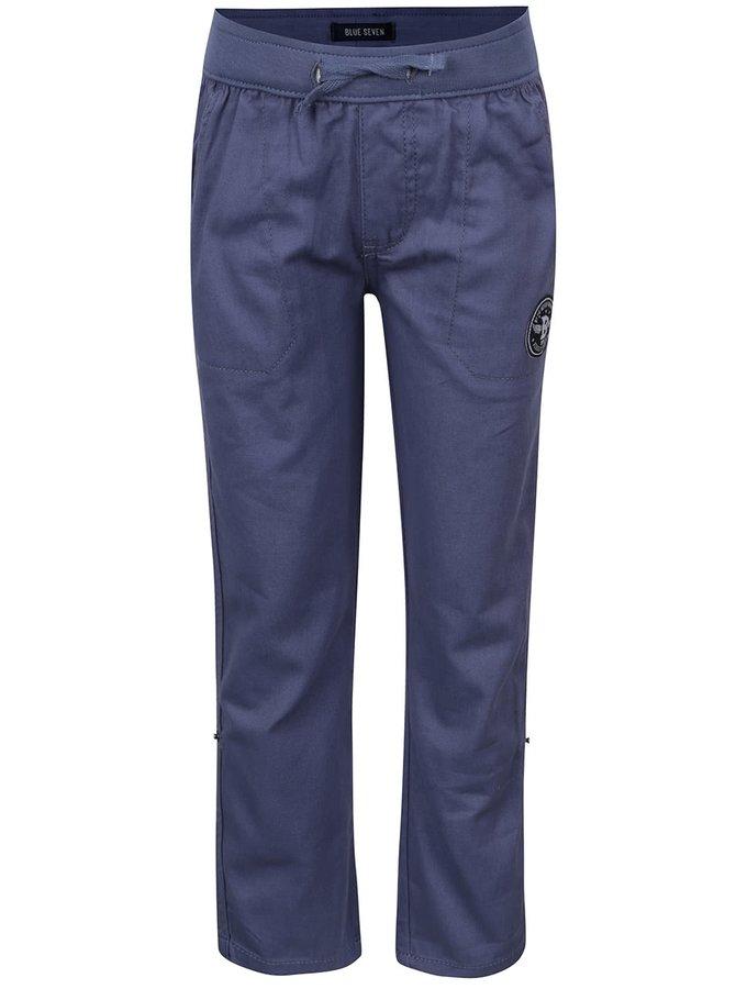 Modré klučičí kalhoty s pružným pasem Blue Seven