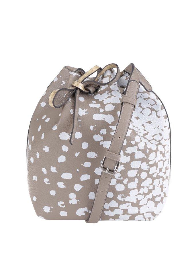 Béžová kabelka s bílým vzorem Desigual Somo Calada