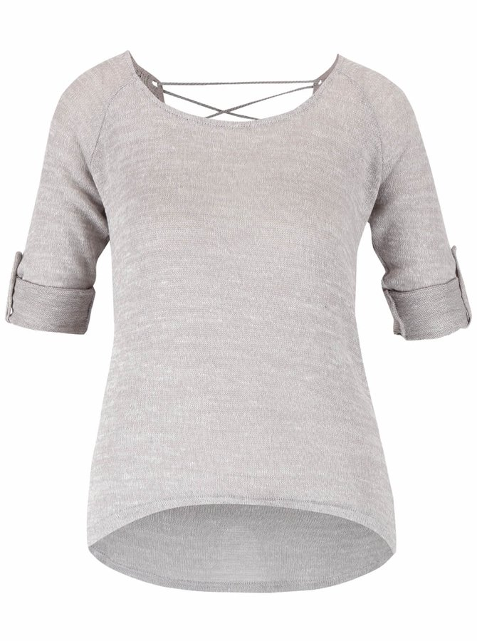 Bluză gri deschis Haily´s Annie cu mâneci reglabile