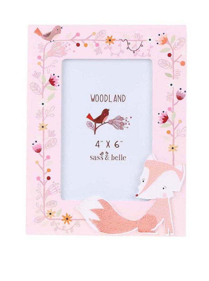 Růžový fotorámeček s liškou Sass & Belle Woodland Friends