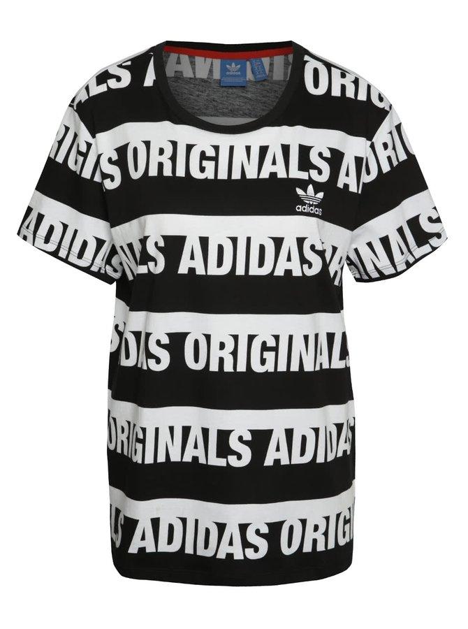 Bílo-černé dámské tričko adidas Originals Trefoil