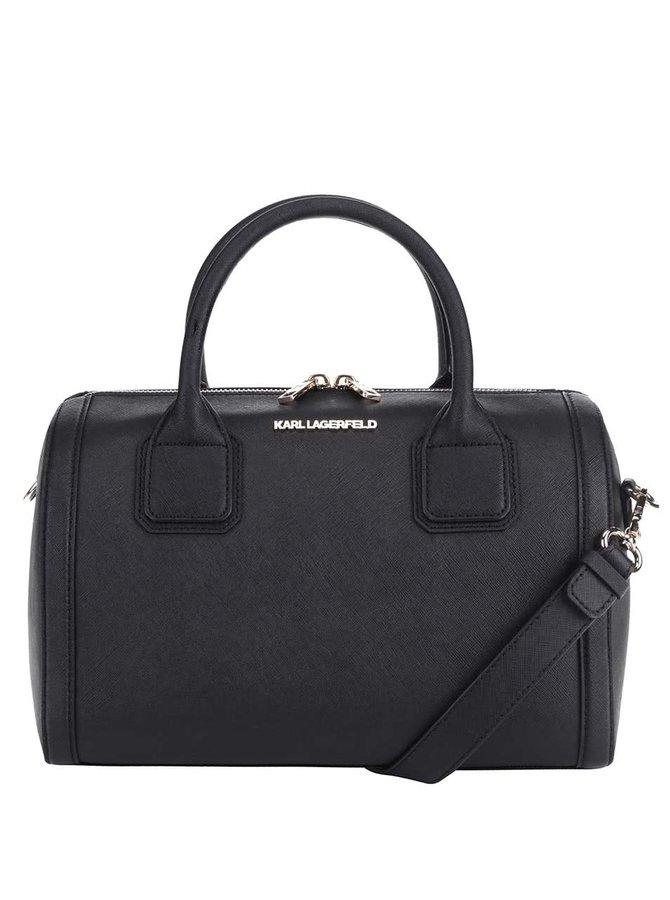 Černá kožená kabelka KARL LAGERFELD