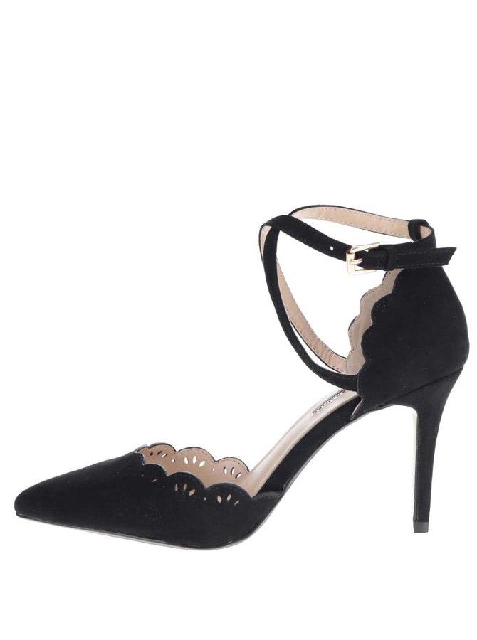 Pantofi negri Dorothy Perkins cu toc cui