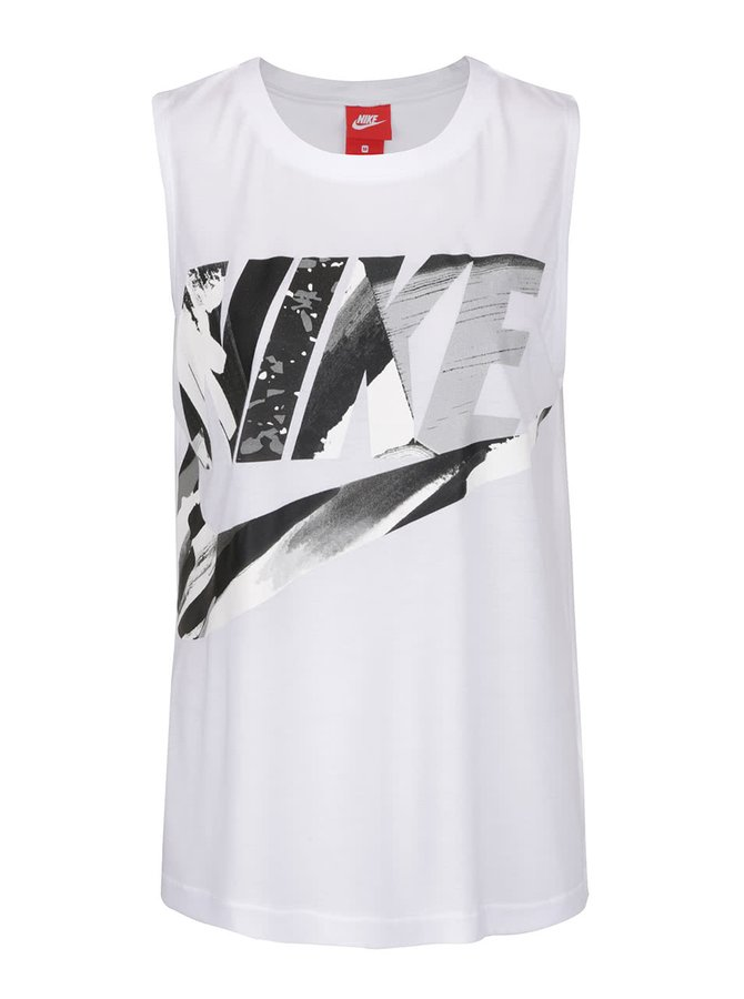 Bílé dámské sportovní tílko Nike Sportswear