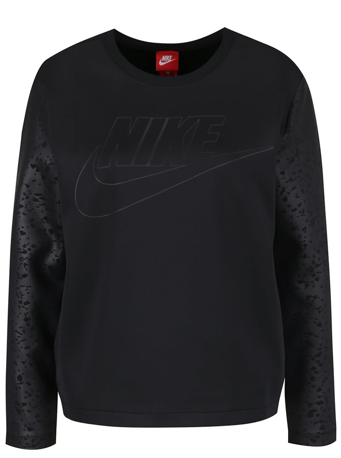 Bluză neagră Nike Crew cu print