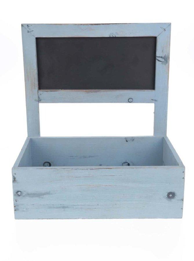 Cutie de bijuterii Dakls albastră din lemn