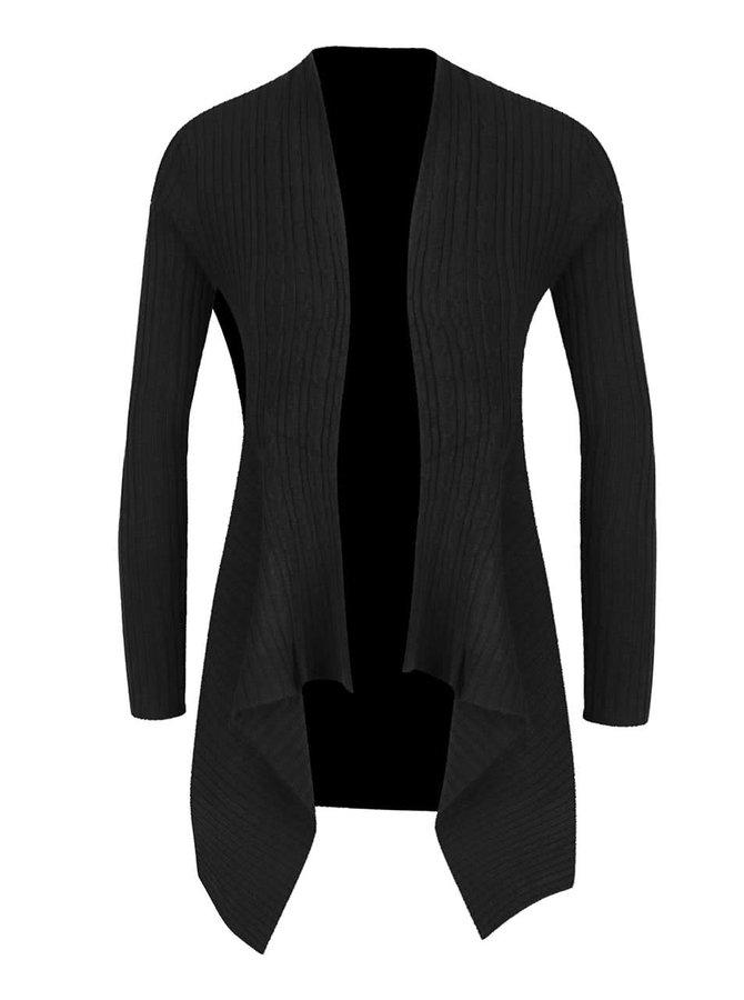 Černý dámský žebrovaný cardigan M&Co