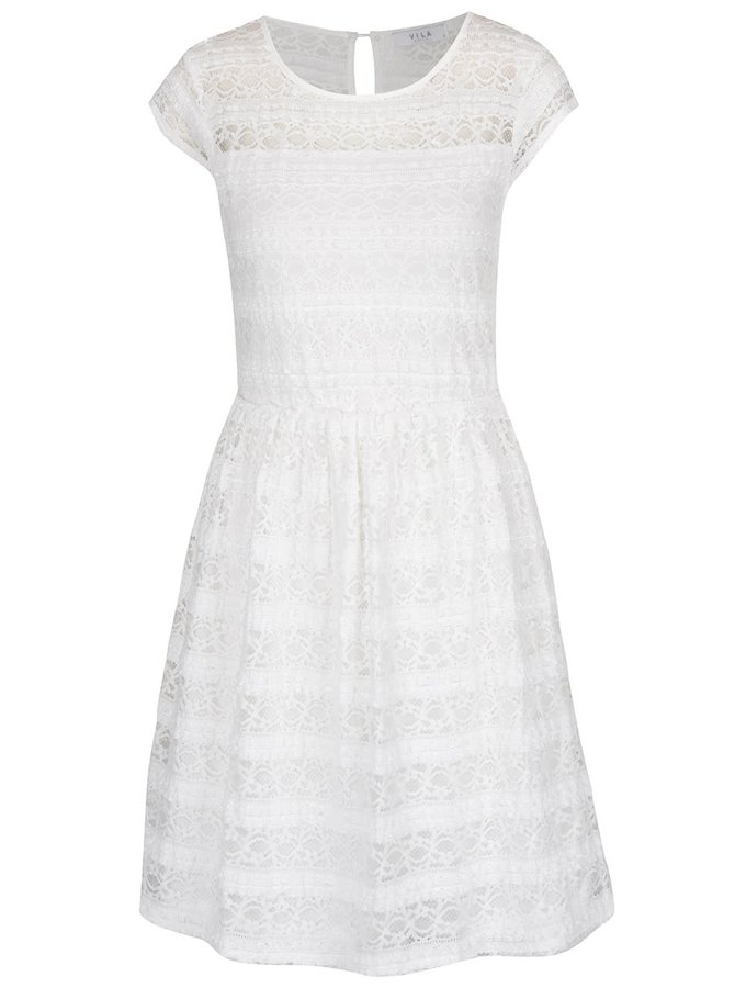 Krémové krajkové šaty VILA Kania