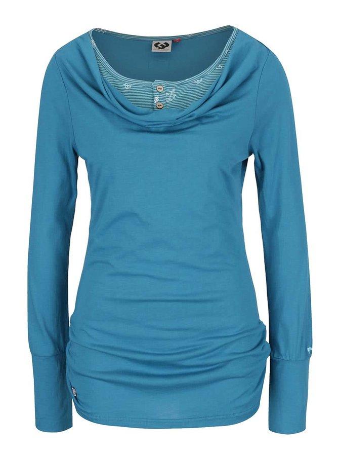 Tyrkysové dámské tričko s dlouhým rukávem Ragwear Zimt