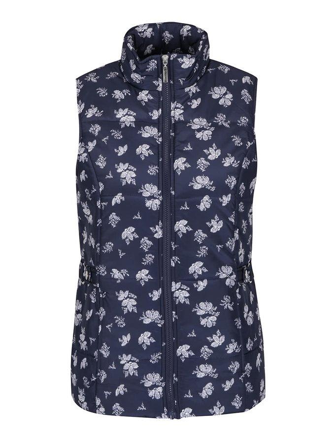 Tmavě modrá dámská  vzorovaná vesta M&Co