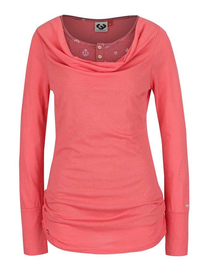 Bluză corai Ragwear Zimt regular fit cu aspect 2 în 1
