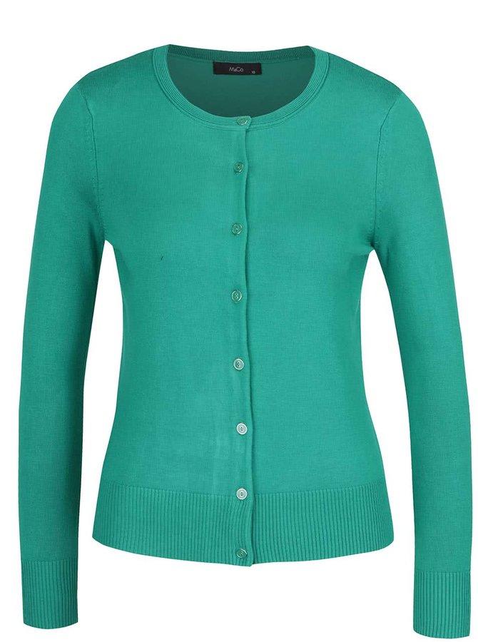 Zelený dámský cardigan M&Co