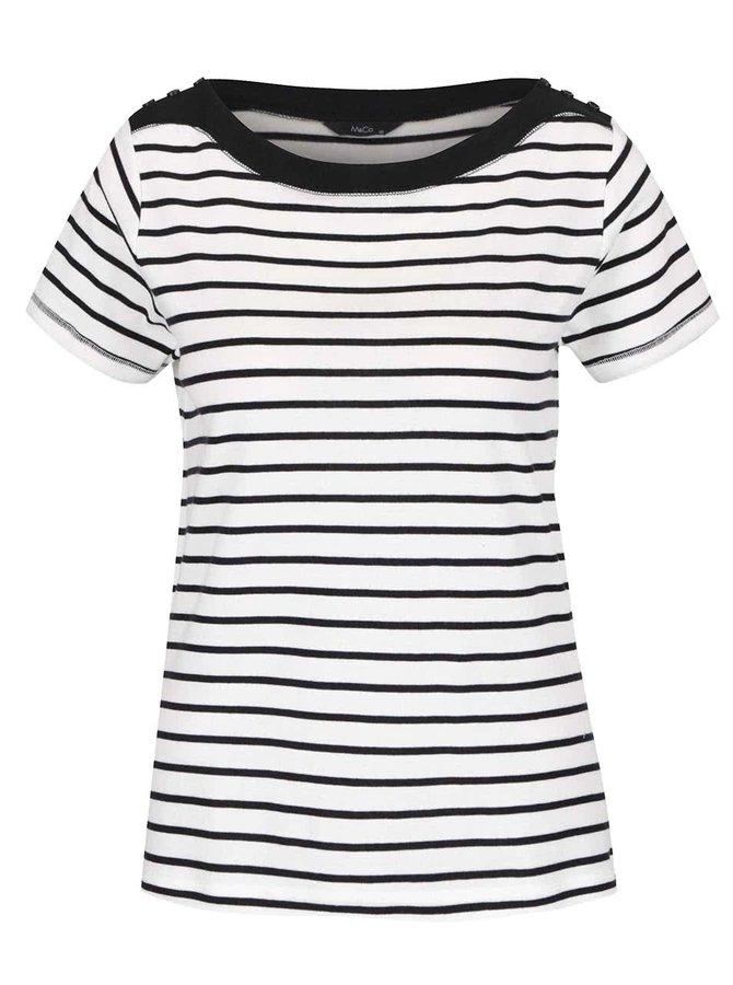 Černo-bílé dámské pruhované tričko M&Co