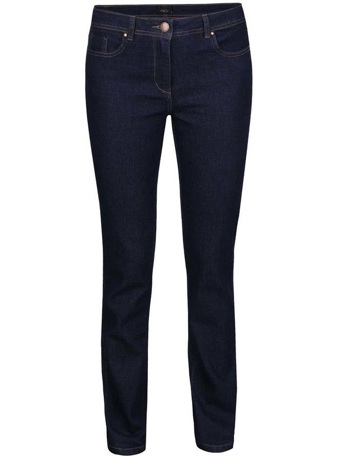 Tmavě modré dámské rovné džíny M&Co