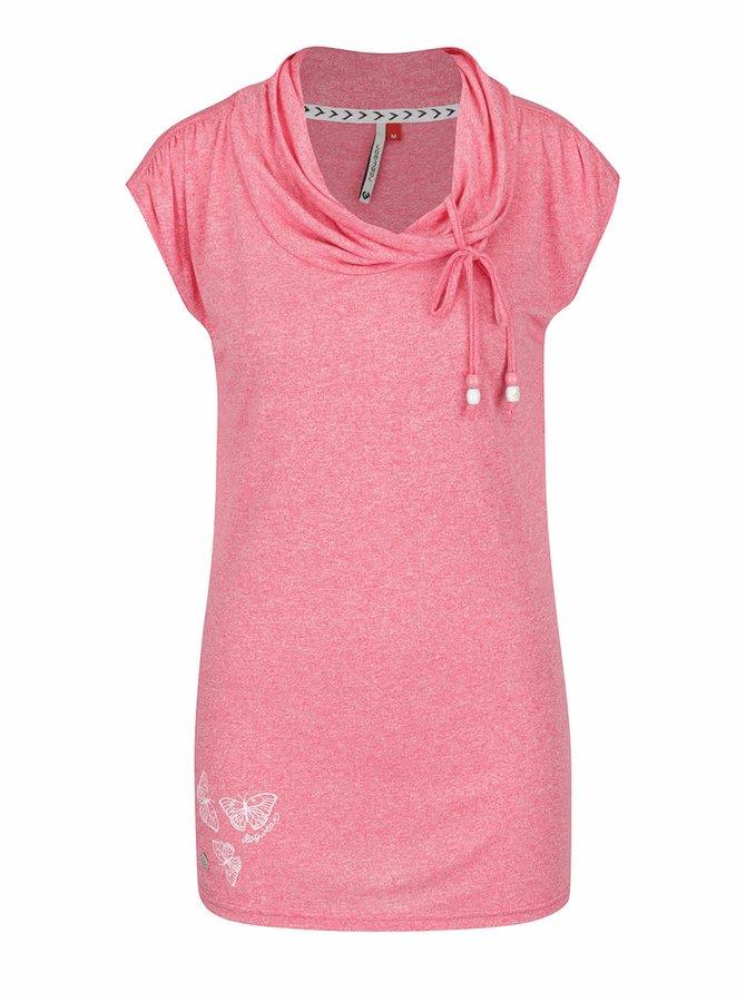 Růžové dámské tričko Ragwear Lorna