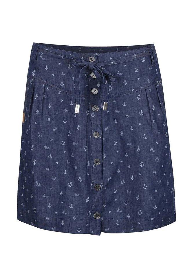 Tmavě modrá vzorovaná sukně Ragwear Nina