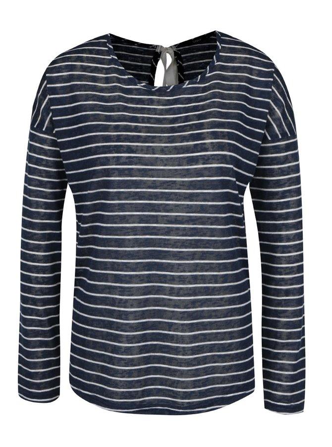 Bluză bleumarin&alb ONLY Marina cu model în dungi