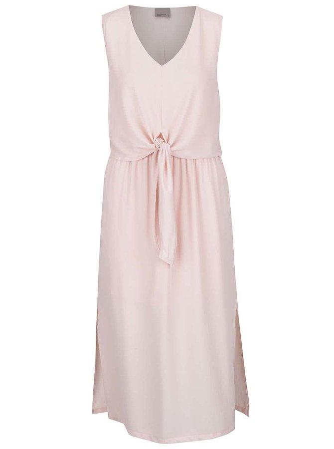 Světle růžové šaty bez rukávů VERO MODA Zen