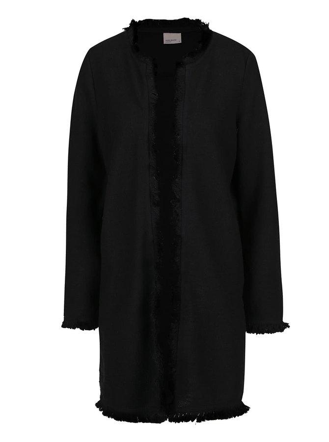 Černý cardigan s roztřepenými lemy VERO MODA Iron