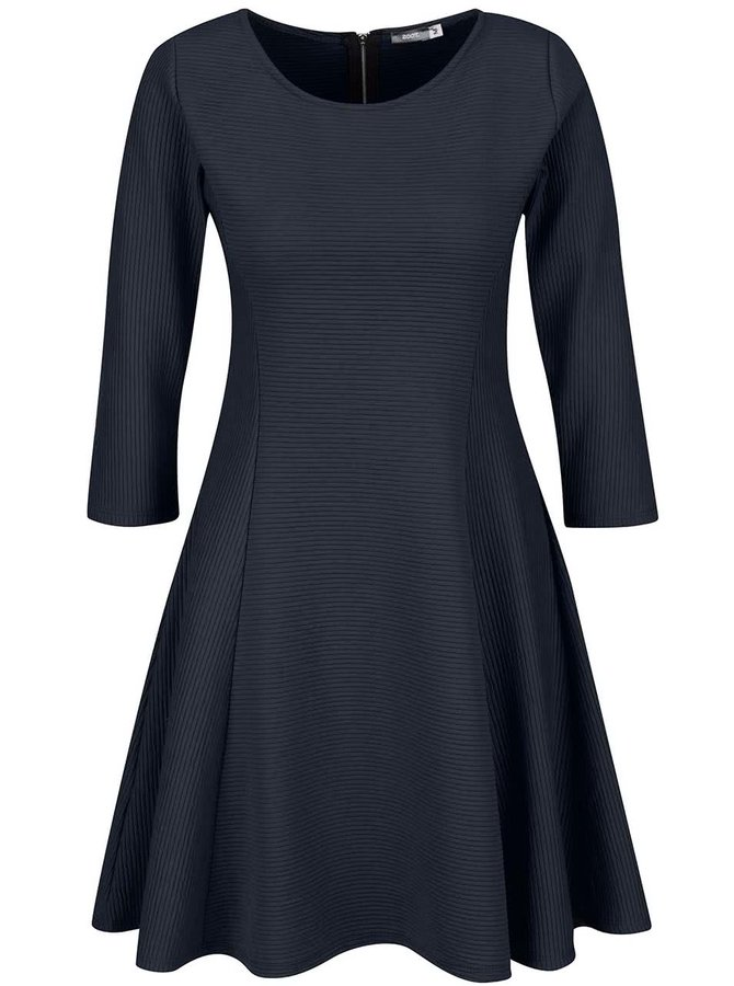 Rochie albastră ZOOT cu mâneci lungi