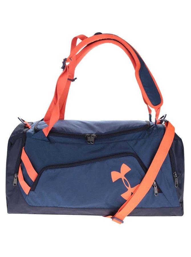 Oranžovo-modrá pánská sportovní voděodolná taška 48,5 l Under Armour Duffel