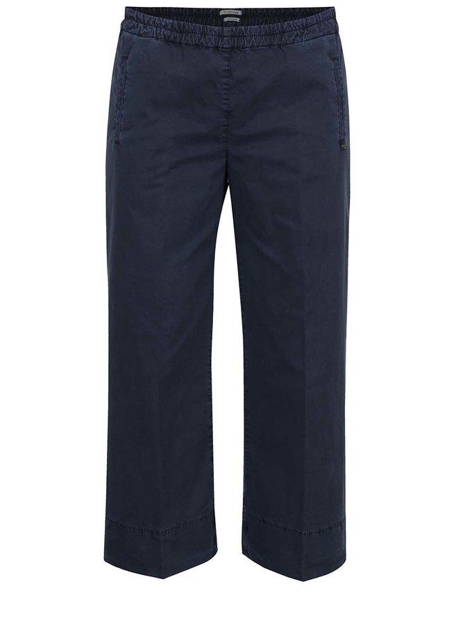 Pantaloni albastru închis Rich & Royal cu talie elastică și croi lejer