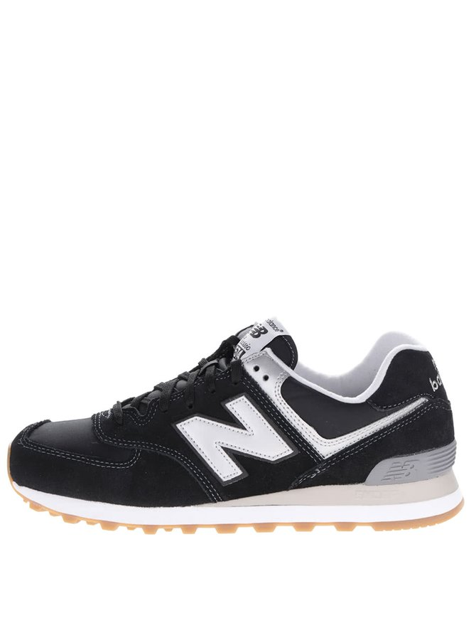 Pantofi sport negru&argintiu New Balance 574