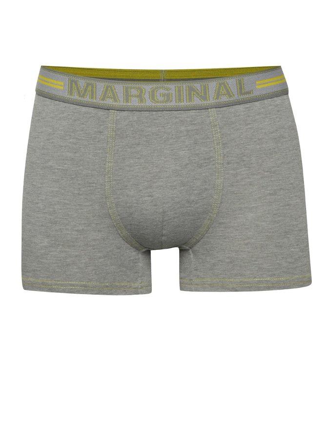 Světle šedé boxerky s obšitými lemy Marginal