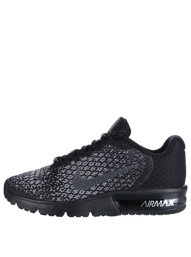 Šedo-černé dámské vzorované tenisky Nike Air Max Sequent
