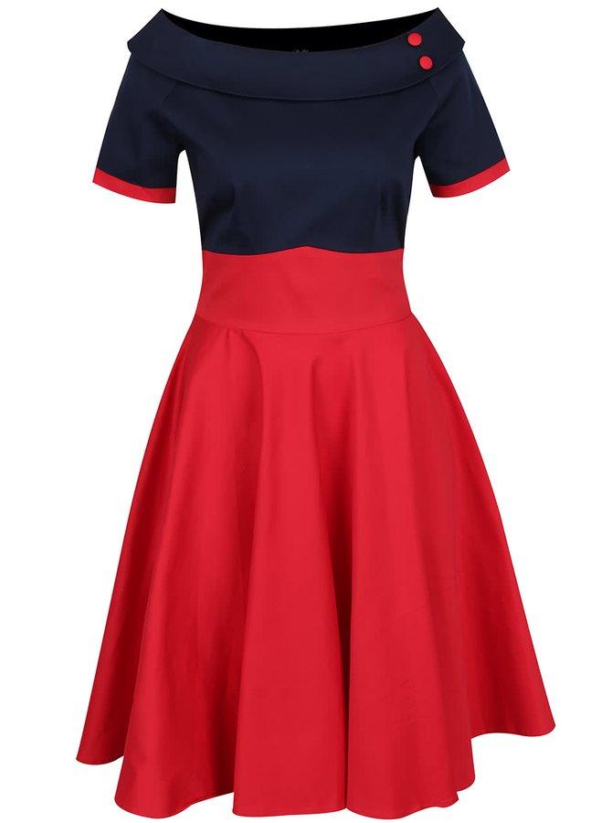 Modro-červené šaty Dolly & Dotty Darlene
