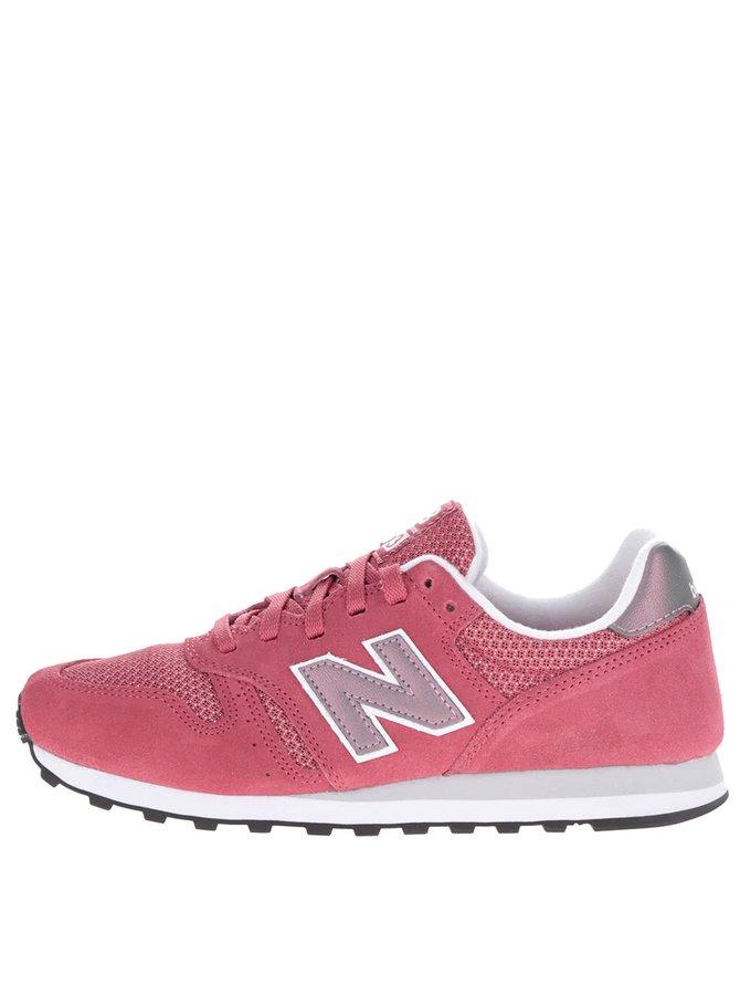 Červené dámské semišové tenisky New Balance
