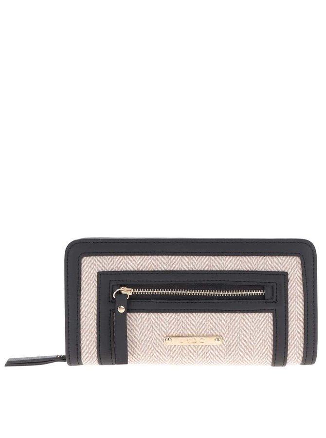 Béžovo-černá peněženka LYDC
