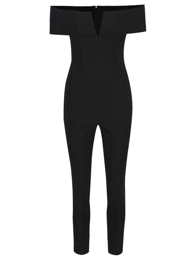 Černý overal s odhalenými rameny Miss Selfridge