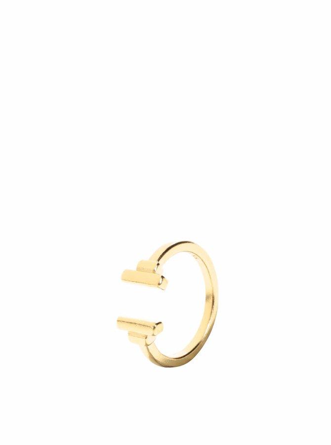 Pozlacený prstýnek Pieces Jane
