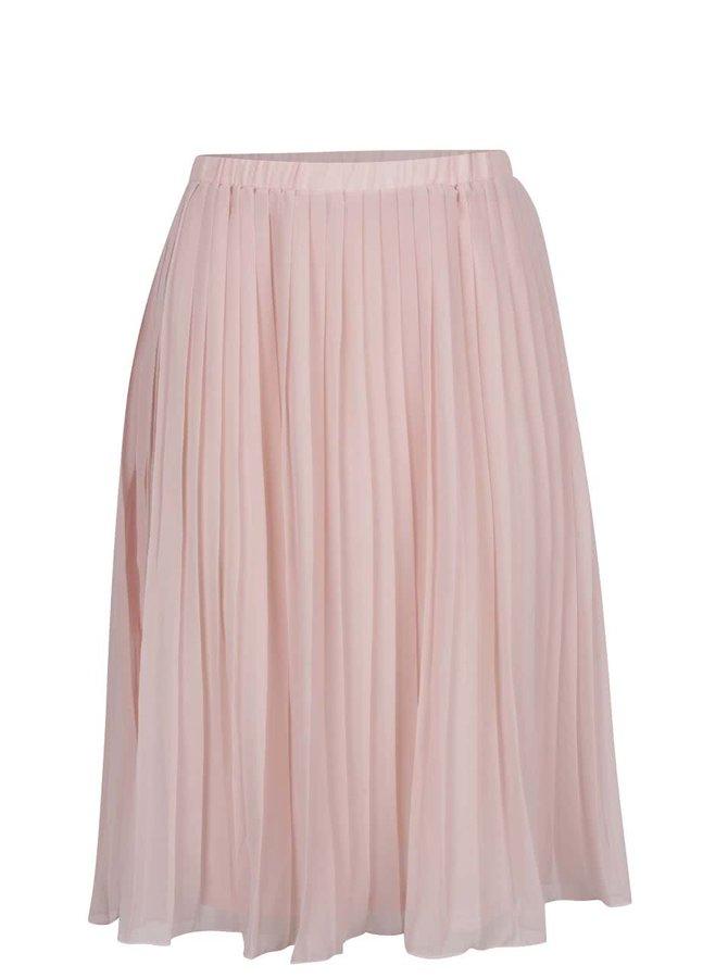 Fustă plisată roz pal Broadway Callie