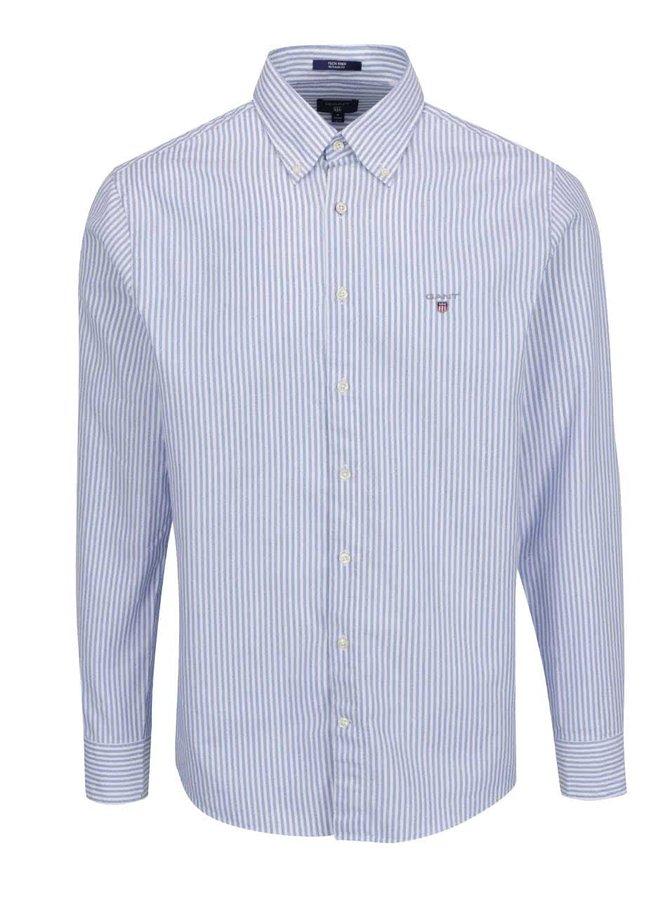 Bílo-modrá pánská pruhovaná košile GANT Prep