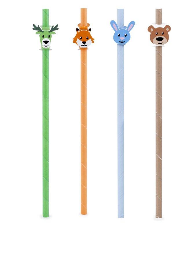 Ekologická brčka v zelené, oranžové, modré a hnědé barvě Kikkerland
