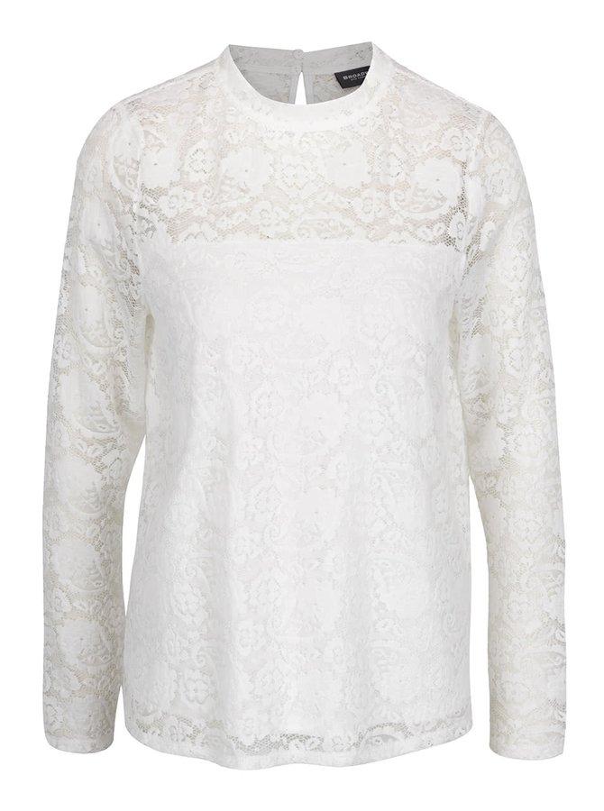 Bluză albă din dantelă Broadway Carma