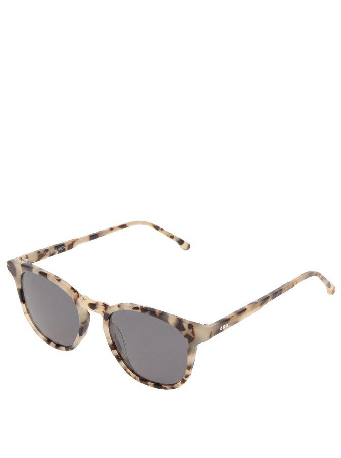 Hnědo-krémové dámské sluneční brýle Komono Crafted Beaumont